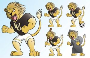 Lindenwood Lions Mascot Male by charliegaines