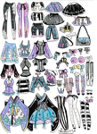 Custom Mix and Match outfits 2 by Guppie-Vibes