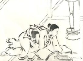 Sumi-e: Concentration by catherinejao