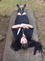 On the grave 3 by HauntingVisionsStock