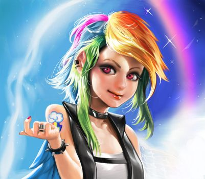 Rainbow Dash by Sinobilante