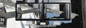 Hogsmeade and Hogwarts by RurouniVash