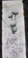 roses and tulips by tr3slibras