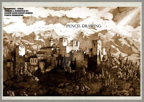 alhambra-pencil drawing 1 by essamdesigns