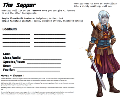Avatar Sheet Prototype - The Sapper by Thrythlind