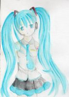 :Lineless Watercolor. Miku: by xiiTErRie