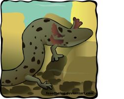 Common Mudpuppy - Necturus maculosus by HightreeDesigns