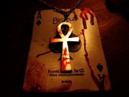 Bloodied Ankh of Spades by DaemianBloodcrow