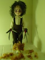 scissorhands puppy by twiztidkitt3n