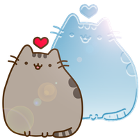 Pusheen cat inlove by Lali-the-Bunny