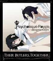 Their butlers together by Psychotique-Royale