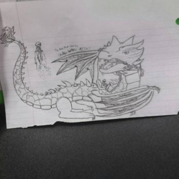 Drawing Of Jay's Lightning Dragon by TheRealBlvdCharms