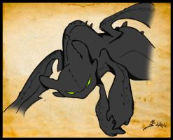 HTTYD Toothless by sapphii