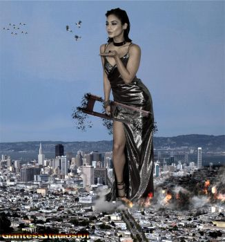 Giantess Vanessa Hudgens Tiny Bugs by GiantessStudios101