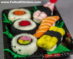 New Sushi Magnet Designs - Set of 6 - Available by AlwaysSuagarCoated