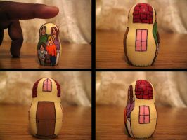 Matryoshka set 1 - 2 details by curiousused