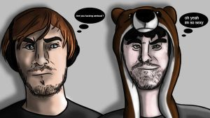 Pewds Is Not Amused by Themystichusky