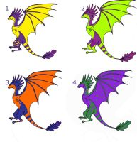 Dragon adoptables 10points by Judilin