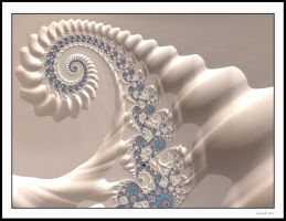 Ivory Spiral Fractal by 12CArt