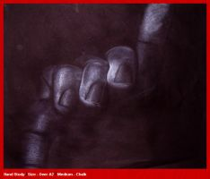 Hand Study - White Chalk by StardogChampion