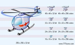 Casualty helicopter Icon by medical-icon-set