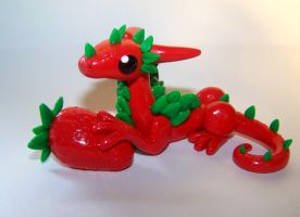 Strawberry Dragon by ByToothAndClaw