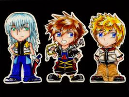 Kingdom Hearts II Bookmarks by Chinese-Shinigami