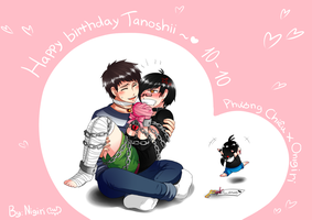 [Vie] Happy Birthday Tanoshii and Chieu by Nigiri-chan