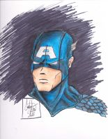 Captain America Color by CJRogue