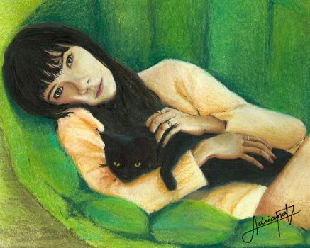 with black cat by AdriiUm