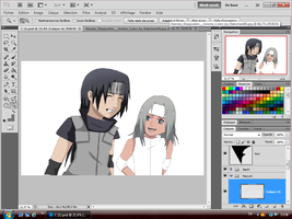 WIP ItaNayu Child Progress Color by Sarah927