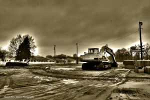 Backhoe Sepia by aseaofflames