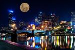 Supermoon over the City by DanielleMiner
