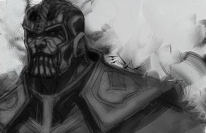 Thanos Sketch by ErikVonLehmann