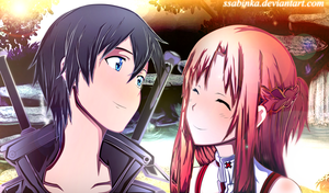 Kirito and Asuna-SAO by Ssabinka