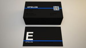 EPSILON NETWORKS logo and business card #2 by senon