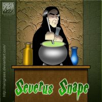 Severus Snape by Raingrass