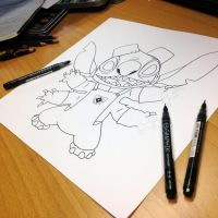 Stitch Outline Teaser by AtomiccircuS