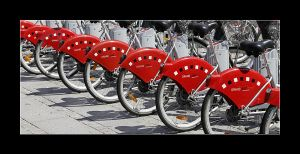 Red bicycles by 2510620