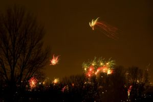Fireworks over Amsterdam SouthEast 2 by steppeland