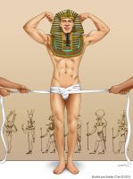 Sexy Male Pinup - How to mummify a Pharaoh by eddiechin
