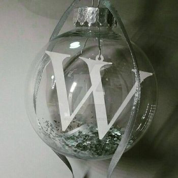 W Initial Papercut Bauble by ladysilver2267