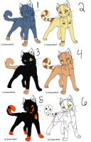 Warrior Cat Adoptables 4 CLOSE by Character-Shelter