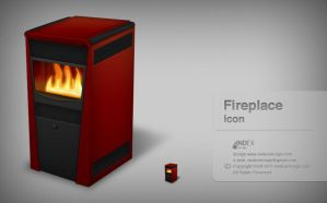 Fireplace icon by AndexDesign