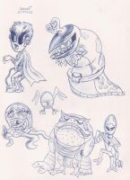Pen Sketch Creatures 2 by megadrivesonic