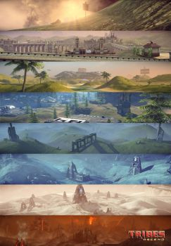 Tribes: Ascend Scenery Poster by MusicalWolfe