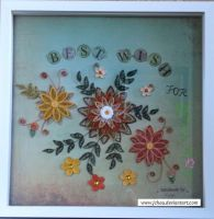 Paper Quilling Greeting by jchau