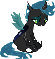 Scootaloo As Changeling by BaronBronie