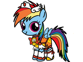 Young Rainbow Dash as Young Cure Sunny by OmegaRiderSangou