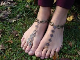 Bohemian barefoot sandals by noisypixie